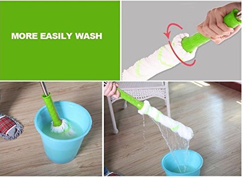 Rotary Spin Twist Rotating Mop  Microfiber Head