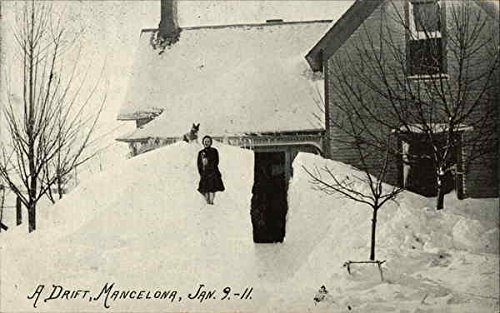 Snowdrift in Mancelona, Michigan January 9, 1911
