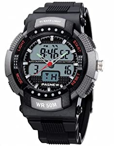 P&o Highquality Pas50M Water-Proof Dual Time Boys Men Sport Watch