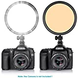 Bestlight® Rpad-112 112 Pieces LED Round Dimmable Ultra Thin Panel On-camera Video Light for Canon Nikon Pentax Olympus Samsung JVC DSLR Cameras DV Camcorders