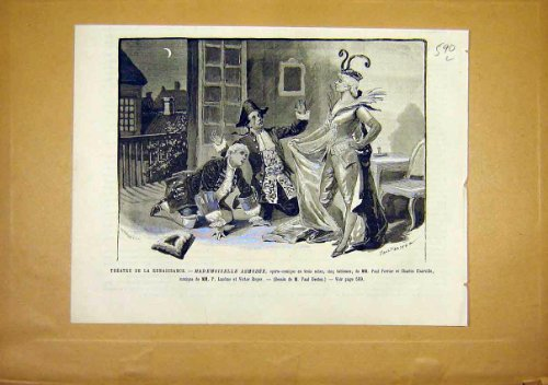 Theatre Renaissance Asmodee Ferrier French Print 1891