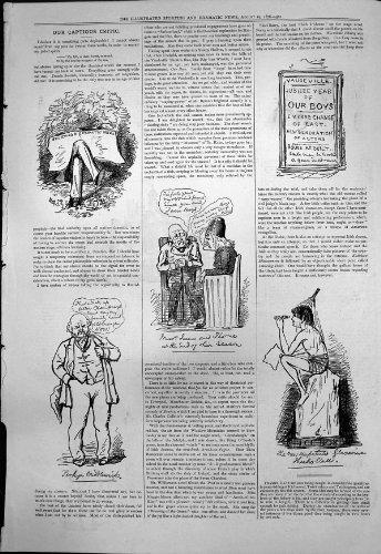 Old Original Antique Victorian Print Captious Critic Vaudeville New Actors Messrs James Thorne 1876 249T118 (Vaudeville Old And New compare prices)
