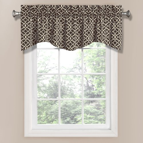 Waverly Lovely Lattice Valance, Onyx front-954905