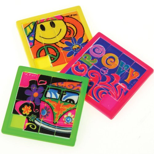 Retro Slide Puzzles (12) Party Accessory