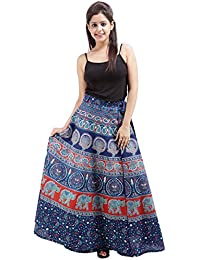 Jaipur Skirt Women's Cotton Wrap Skirt - B01F5OHUBW