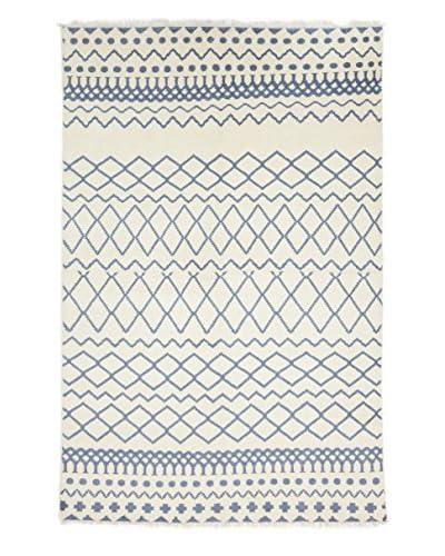 Darya Rugs Modern Oriental Rug, Off-White, 6' 1 x 9' 4