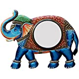 Ghanshyam Art Wood Elephant Wall Mirror (60.96 Cm X 4 Cm X 45.72 Cm, GAC068)