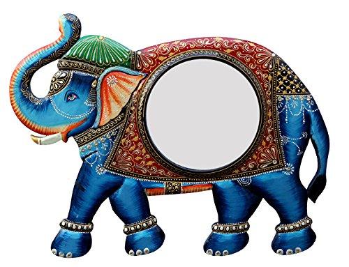 Ghanshyam Art Wood Elephant Wall Mirror (60.96 Cm X 4 Cm X 45.72 Cm, GAC068)