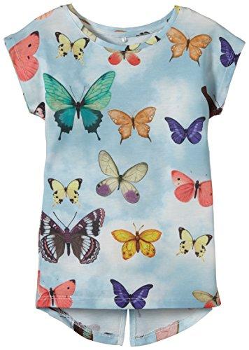 NAME IT - Hera Kids Capsl Slim Top 215, T-shirt per bambine e ragazze, multicolore (corydalis blue), 122 (Taglia produttore: 122-128)