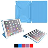 iPad Air 2 Case - roocase Optigon 3D iPad Air 2 2014 Slim Shell Case Smart Cover [Features Landscape and Typing Stand] for Apple iPad Air 2 (2014) 6th Generation Latest Model, Blue
