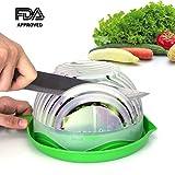 Salad Cutter Bowl Upgraded Salad Maker by WEBSUN Easy Fruit Vegetable Cutter Bowl Fast Fresh Salad Slicer Salad Chopper