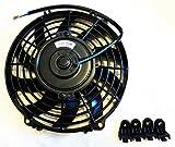(mind items) 9インチ 汎用 電動ファン 薄型 プル式 吸風式 12V 自動車用