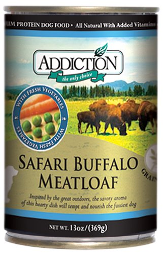 Safari Buffalo Meatloaf- Dog Food (13 Ounce Cans), Pack of 12 (Addiction Canned Dog Food compare prices)