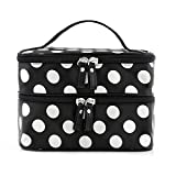 Kalevel Double Layer Dual Zipper Toiletry Travel Cosmetic Bag Makeup Bag Case Toiletry Bag Train Case Handbag...