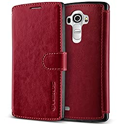 LG G4 Case, Verus [Layered Dandy][Wine Red] - [Premium Leather Wallet][Slim Fit][Card Slot] Cover for LG G4