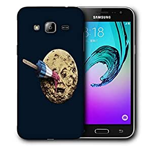 Snoogg Ice Cream Moon Designer Protective Back Case Cover For SAMSUNG GALAXY J3/J3 2016 J310