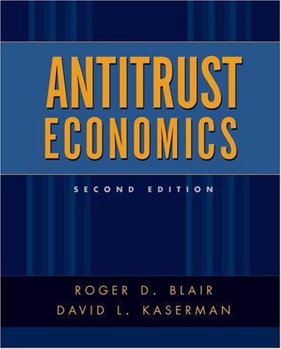 Antitrust Economics