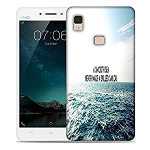Snoogg Smooth Sea Designer Protective Phone Back Case Cover For Vivo V3 Max