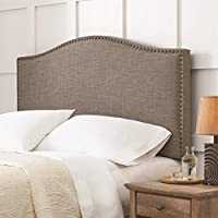 Better Homes and Gardens Grayson Linen Headboard with Nailheads - Full/Queen