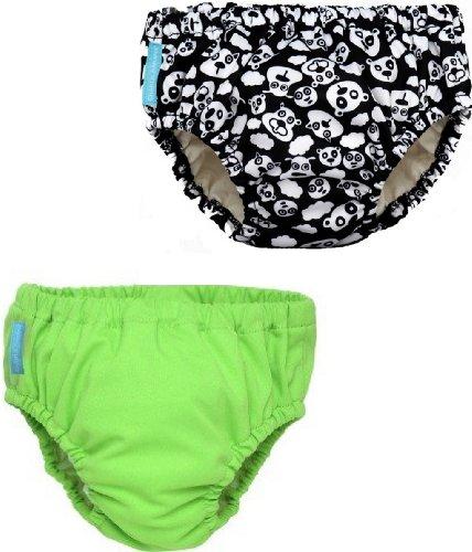 2-In-1 Swim Diaper & Training Pants (2 Pack) - Boys (Small 11-18Lbs, Lime/Blackbeary)