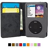 英国Snugg社 iPod Classic 用 手帳型 PUレザーケース - 生涯補償付き (グレー)