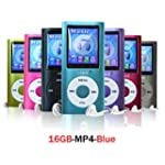 Lonve Blue 16GB MP4/MP3 Player Music...