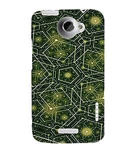 EPICCASE Trippy green Mobile Back Case Cover For HTC One X (Designer Case)