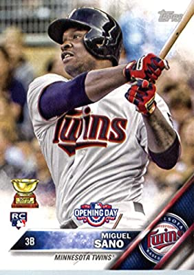 2016 Topps Opening Day #OD-52 Miguel Sano Minnesota Twins Baseball Rookie Card-MINT