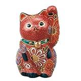 〔九谷焼 縁起物・置物・招き猫〕 3.3号招き猫・盛