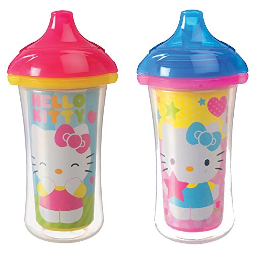 Munchkin Hello Kitty Click Lock 2 Count Insulated Sippy Cup, 9 Ounce - 1