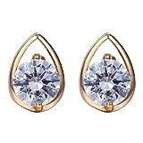 Wild Wind (TM) Yellow Heart Shaped Set Diamond Sweet prefer Stud Earrings