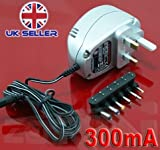 Silver MAINS UNIROSSl AC/DC Power Supply Adaptor Charger 12V+ pcs laptops