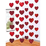 Amscan Blushing Valentine's Day Candy Heart String Party Decoration (Pack of 6), Multicolor, 7'