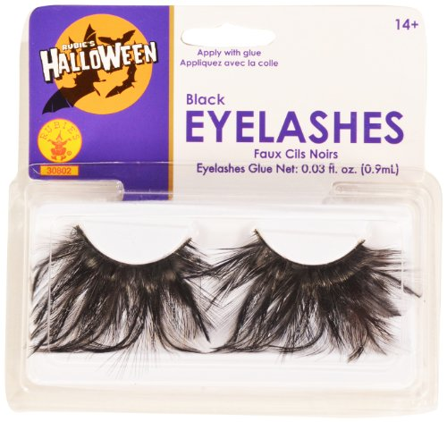 Rubies Black Eyelashes and Adhesive