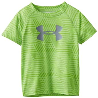 Under Armour Little Boys' Embossed Logo Tee, Green, 2T