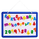 Kid's Dry Erase Board and Magnet Set - 109 Piece Magnetic Letters, Numbers, and Symbols for Fun Educational Learning - Hanging Whiteboard for Home, Preschool, Kindergarten - by EduKids (Color: Whiteboard, 109 Magnetic Letters & Numbers)