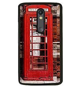 Printvisa Vintage Telephone Booth Pic Back Case Cover for Motorola Moto G3::Motorola Moto G (3rd Gen)
