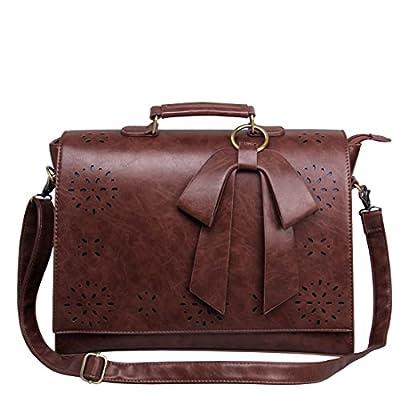 Ecosusi - Sac Bandoulière pour femme - Sac à main - Sac Cartable - Sac Vintage - Sac porté travers 37.5(L)*27(H)*10(W) cm