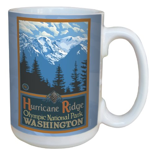 Tree-Free Greetings lm43103 Scenic Olympic National Park Washington Hurricane Ridge by Paul A. Lanquist Ceramic Mug, 15-Ounce, Multicolored at Amazon.com