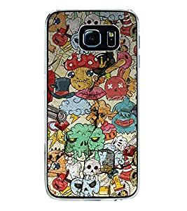 Cartoon Pattern 2D Hard Polycarbonate Designer Back Case Cover for Samsung Galaxy S6 Edge+ :: Samsung Galaxy S6 Edge Plus :: Samsung Galaxy S6 Edge+ G928G :: Samsung Galaxy S6 Edge+ G928F G928T G928A G928I
