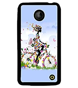 printtech Butterfly girl Back Case Cover for Nokia Lumia 630 , Nokia Lumia 630 3G