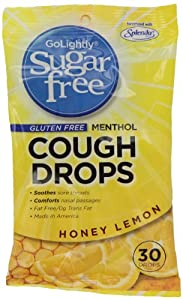 GoLightly Sugar-Free Cough Suppressant, Honey Lemon, 30-Count (Pack of 24)