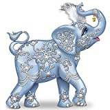 Thomas Kinkade Dazzling Delight: Collectible Elephant Figurine With Swarovski Crystal by The Hamilton Collection
