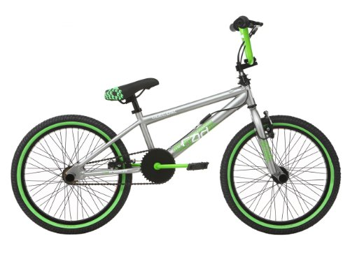 Rad Kids Outcast BMX Bike - Silver/Green