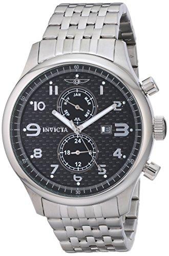 Invicta Uomo II Collection svizzero al quarzo dual tempo GMT Canna di fucile, in acciaio inox orologio 0368