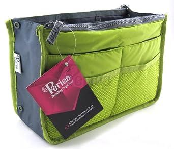 Periea Handtaschenordner, Einlage, Einsatz 12 Taschen groß 28x17x9cm - Chelsy apfelgrün