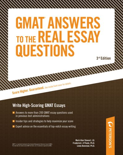 Gmat-cat answers to the real essay questions arco