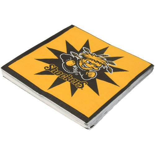 NCAA Wichita State Shockers 16-Count Luncheon Napkins