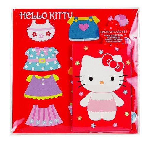 Dress-Up Card Set Flower Kitty - 1