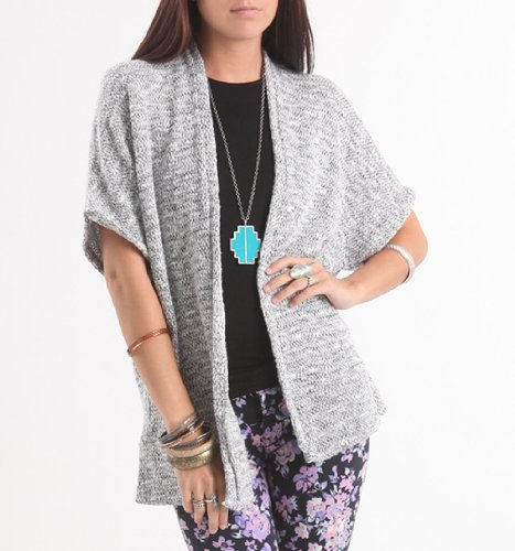 Kirra Womens Short Sleeve Cocoon Cardigan